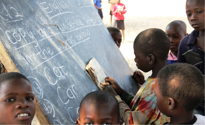 Malawi kids in school